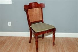 1.Federalist Style Caneback Chair