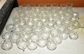 6. Lot of Fifty Five 55 Crystal Glasses