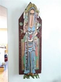 Contemporary Carved Icon Folk Art