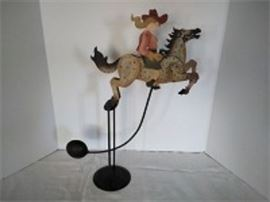 Folk Art Cowgirl Kinetic Sculpture