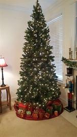 Christmas tree one of three prelit with box