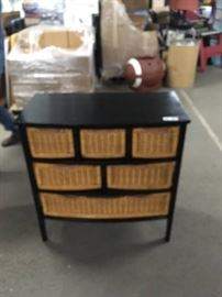 Espresso Chest with Basket Drawers 6 basket Draw ...