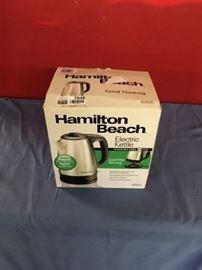 Hamilton Beach Electric Kettle SS Black.