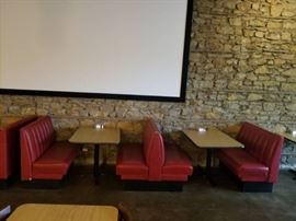 Booth and Table Section One Dbl Sided Bench and ...