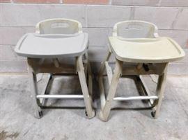 2 Plastic High Chairs