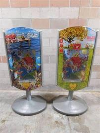 2 Plastic Display Cases