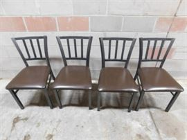 4 Metal Chairs with Vynl Seats