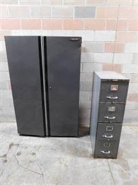 Husky 2 Door Metal Cabinet and 4 Drawer Metal File ...