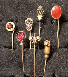 14k Hat Pin Collection