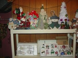 Some of the Brand New Christmas items in boxes