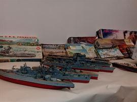 Model Ships Battleships Aircraft Carriers Cruisers