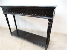 Black Hall Table