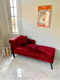 Cranberry velvet chez