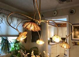 Custom mid-century chandelier