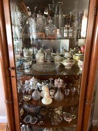 Vintage & antique porcelain & glass collectibles