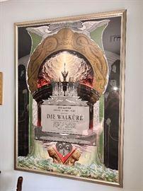 """Vintage large Opera Poster """"Die Walkur"""""""
