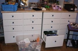 Mobile Work Counters with Drawers
