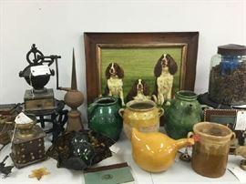 Old Vasetti Italian 19th Century Pottery Pieces