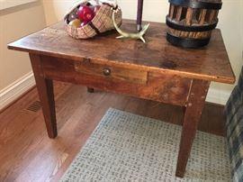 pine antique table