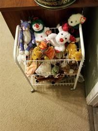 stuffed christmas toys and beanie babies