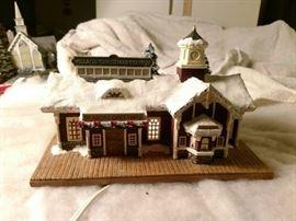 Thomas Kinkade Village Christmas Hawthorne Village..