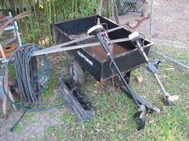 Vintage trolling motors (they work!), lawn tractor dump, etc.
