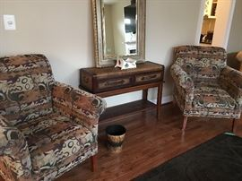 Pair Southwestern Inspired Chairs