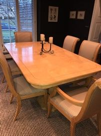 """HENREDON FORMAL DINING TABLE WITH 6 CHAIRS 76""""L x 44""""W x 30""""H"""