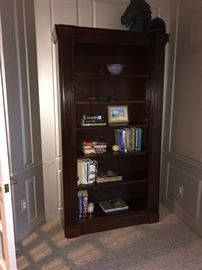 """HOOKER CHERRY WOODBOOKCASEWITH LIGHTS- 44"""" W x 13""""D x 82""""H"""