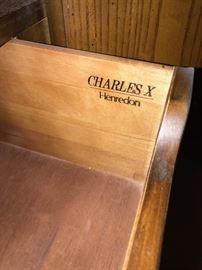 "HENREDON CHARLES X COLLECTION COGNAC WARDROBE  44""W x 19""D x 80""H"