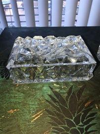 TIFFANY & CO. CRYSTAL JEWELRY TRINKET BOX