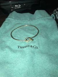 TIFFANY & CO. LOVE KNOT 925 & 18K BRACELET