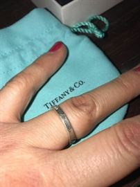TIFFANY & CO. 925 I LOVE YOU RING-SIZE 6.5