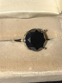 11.26 CARAT BLACK DIAMOND RING