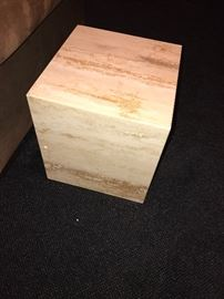 """SMALL CUBE MARBLE SIDE TABLE-16""""L x 14.5""""W x 16""""H"""