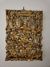 Asian gilt wood wall carving.