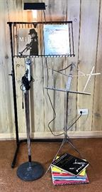 Microphone and 2 Music Stands https://ctbids.com/#!/description/share/74280