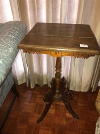 Carved side table 50% off was 100 Now $50