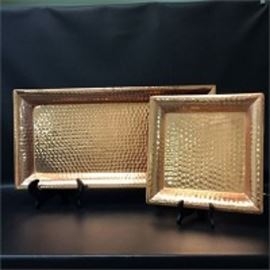 Hammered Copper Trays