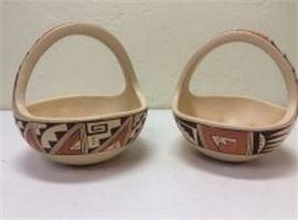 Hopi Pottery Baskets