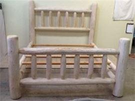King Size Whitewash Pine Bed Frame