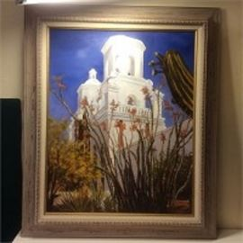 Oil Painting of Mission
