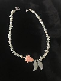 Jade Necklace with Carved Leaves and Lotus Blossoms https://ctbids.com/#!/description/share/75761