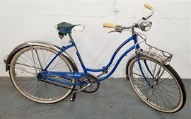 Vintage 1960 Original Blue Schwinn Fair Lady Bicycle