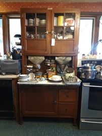 Hoosier Cabinet with original accessories.