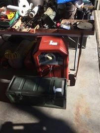 Lincoln welder and ammo box