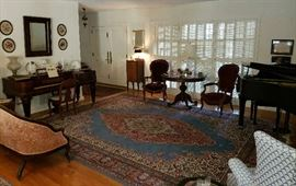 Formal Living Room Full of Antiques & Collectibles