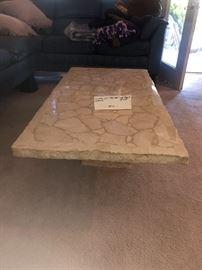 Very nice travertine coffee table...