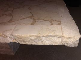 Nice thick slab cuts make these tables beautiful accents to your home...