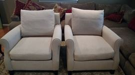 Max Home Better by Design club chairs-down and feather cushions